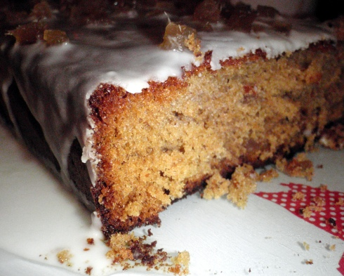 Spicy Ginger cake - slice